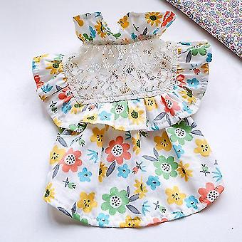 Spitze Blumen Hundekleid Sommer Haustier Kleidung Katzenrock Yorkshire Pomeranian Shih Tzu Maltese Schnauzer