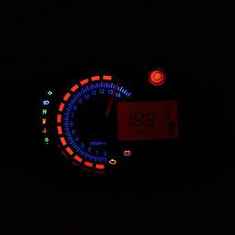 15000rpm Мотоцикл Цифровой свет ЖК-датчик Спидометр Тахометр Одометр