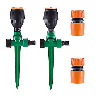 Trädgårdsspridare, automatiskt cirkulärt grässpridar sprinklersystem 360 roterande bevattningssystem spetsbas sprinkler för gräsmatta gräsmatta trädgård