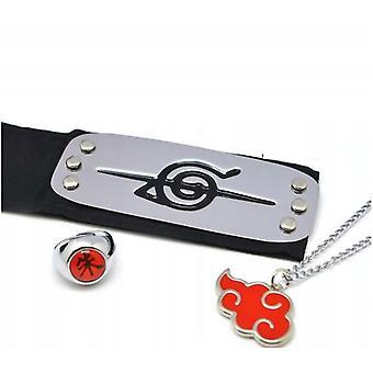 Naruto Set Of 3 Elements. Headband + Signet Ring + Necklace