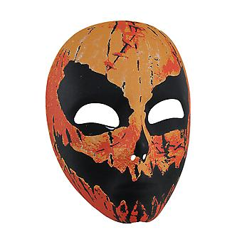 Creepy Pumpkin Man Adult Costume Mask