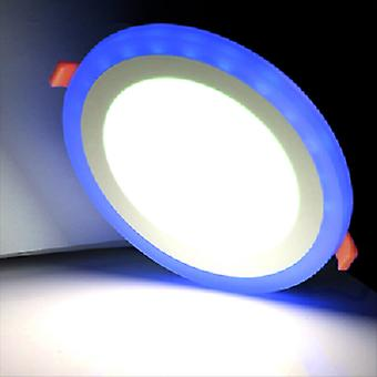 I LumoS Dual Colour LED 9 Watt Round Recessed Ceiling DownLight with Blue Light