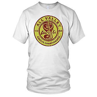 Alle Valley Karate Championship Cobra Kai Karate Kid ungene T skjorte