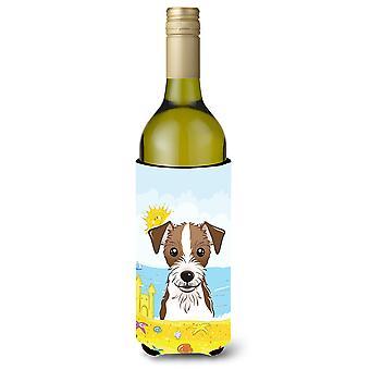 Jack Russell Terrier verão praia vinho garrafa bebida isolador Hugger