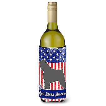 Bouvier des Flandres amerikanischen Wein Flasche Beverge Isolator Hugger