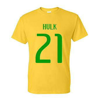 Hulk Brazil Hero T-shirt (yellow)