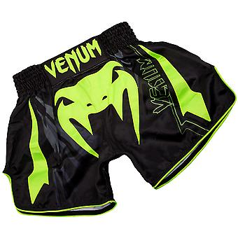 Venum Sharp 3.0 Lightweight Muay Thai Shorts - Black/Neo Yellow