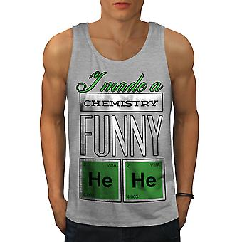 Funny Chemistry Geek Men GreyTank Top | Wellcoda