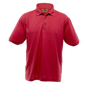 UCC 50/50 Mens Heavyweight Plain Pique Short Sleeve Polo Shirt