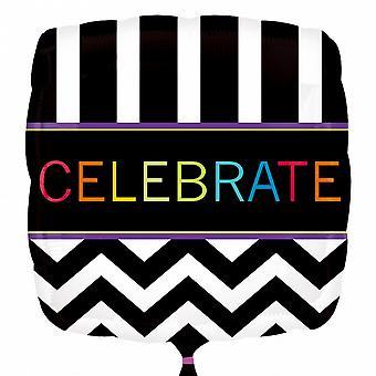 Anagramma 18 pollici festeggiare Palloncino Foil quadrato bianco/nero