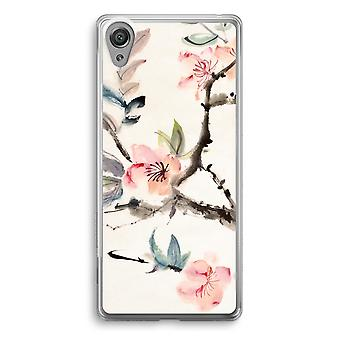 Sony Xperia XA1 przezroczyste etui (Soft) - Japenese kwiaty