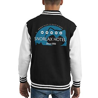 Pokemon Snorlax Hotel Kid's Varsity Jacket