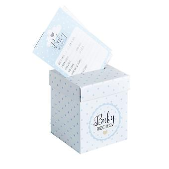 Baby Shower Prediction Cards and Post Box BLUE x 20 Oh Baby