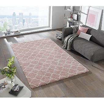 Design cut pile carpet deep pile Luna pink cream