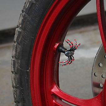2x Funny motocicleta anvelope supapă închidere capac atașament Spider Red Helloween