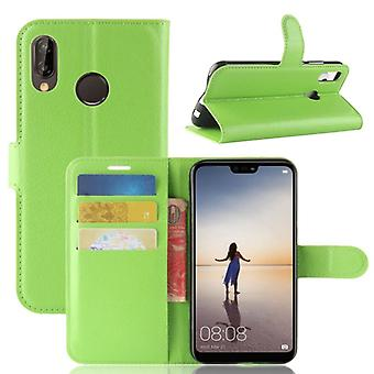 Pocket wallet premium green for Huawei P20 Lite protection sleeve case cover pouch new accessories