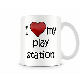 I Love My PlayStation Printed Mug