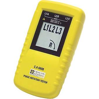 Chauvin Arnoux C.A 6608 Rotating EMF indicator CAT III 600 V LCD