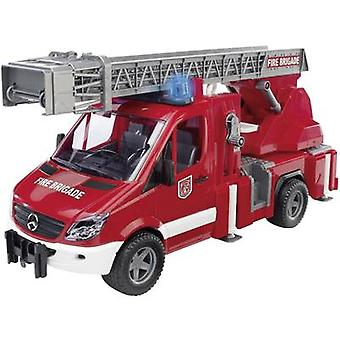 Brother Mercedes Benz Sprinter fire brigade with turntable ladder, water pump and light and sound module 2532