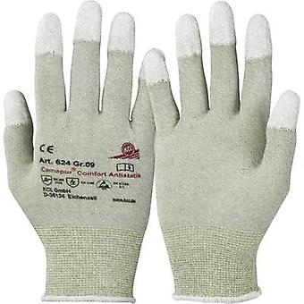 KCL Camapur Comfort Antistatik 624 polyamidi suojaava käsine koko (käsineet): 9, L EN 16350:2014-07 CAT II 1 pari