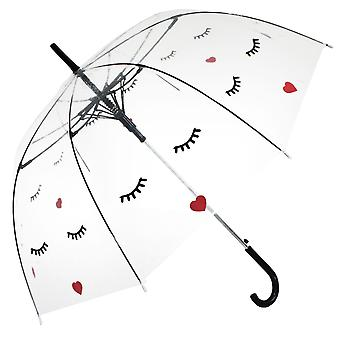 Gerade klare Regenschirm (Gesicht)
