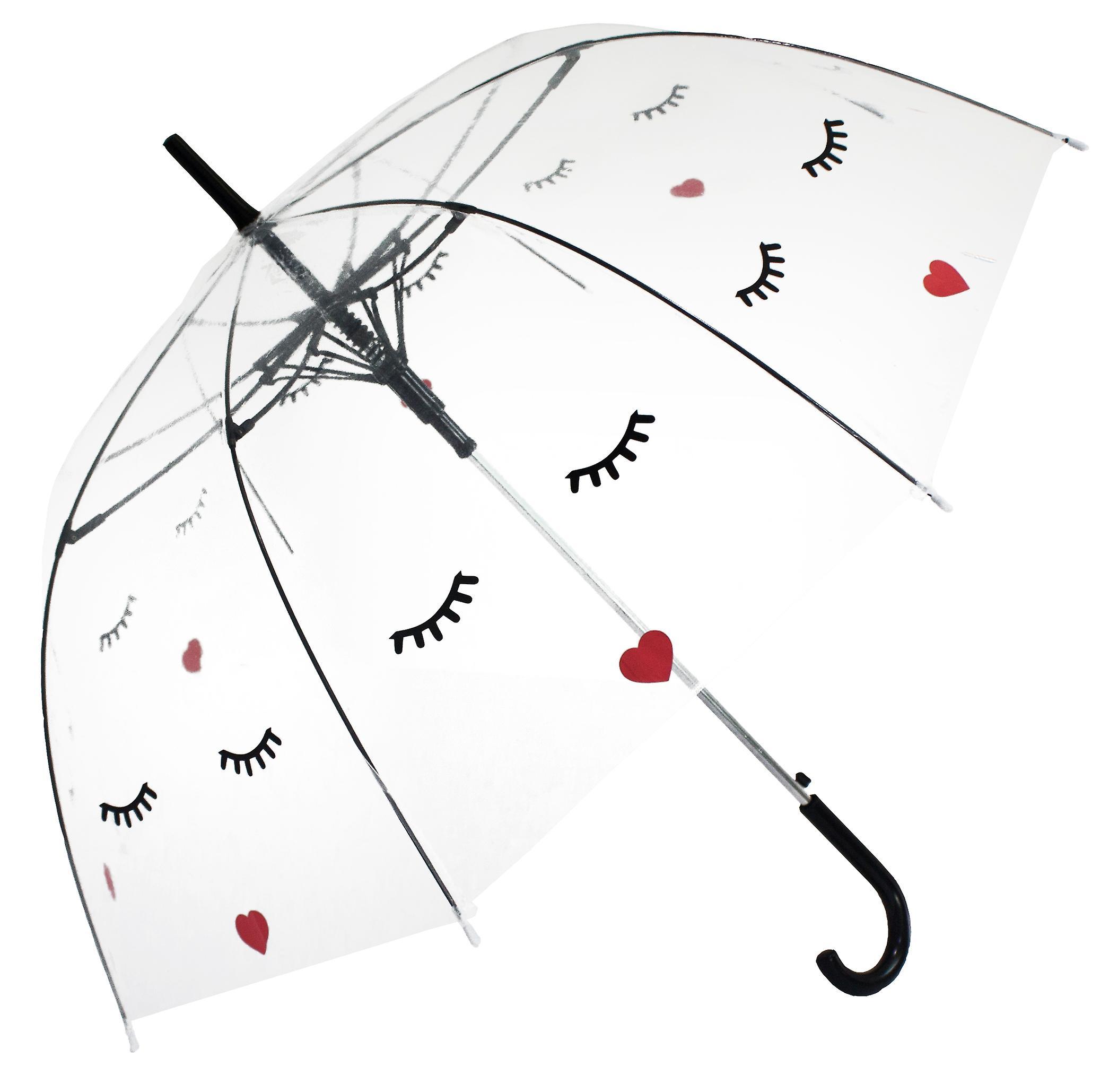 Straight Clear Umbrella (Face)