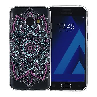 Cubierta de la henna para tatuaje colorido de Samsung Galaxy J5 2016 funda protectora de silicona