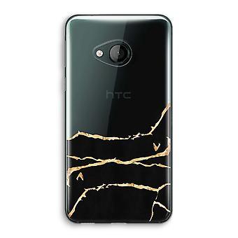 HTC U spelen transparant Case (Soft) - Gold marmer