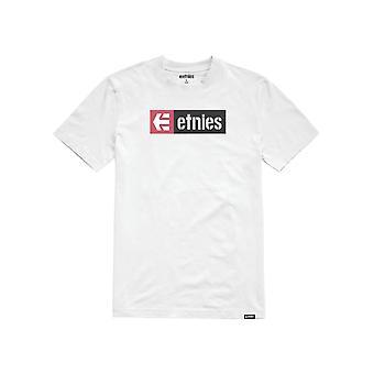 Etnies neue Box Kurzarm T-Shirt in weiß/rosa