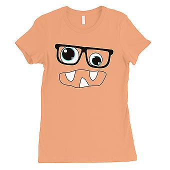 Monster med briller dame Peach T-Shirt
