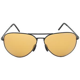 Porsche Design Design P8508I Aviator Sunglasses | Black Frame | Orange Mirrored Lens