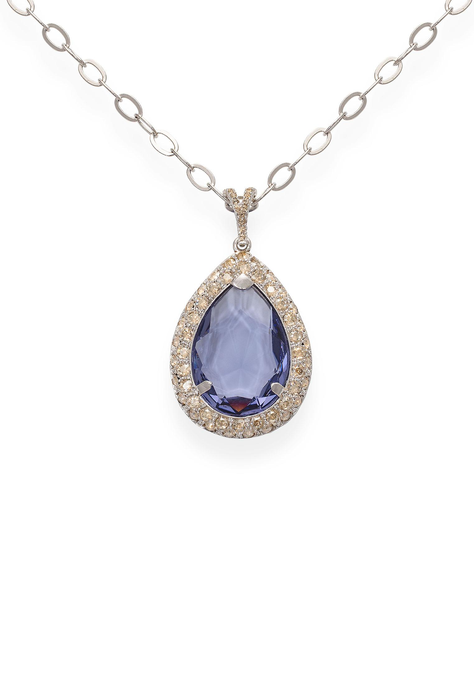 Tanzanite pendant with crystals from Swarovski 9269