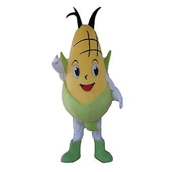 mascot SPOTSOUND of yellow and green, giant and smiling corncob