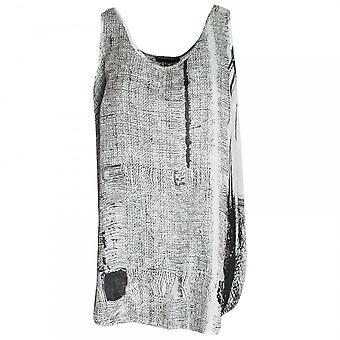 Crea Concept Round Neck Printed Sleeveless Top