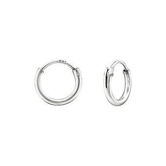 8 Mm - 925 Sterling Silver Ear Hoops - W38382x