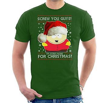 South Park Cartman skruv du killar jul sticka mönster mäns T-Shirt