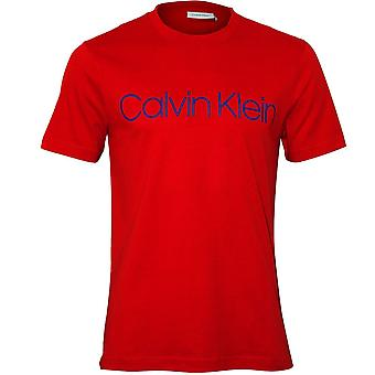 Calvin Klein Logo Crew-hals t-skjorte, Fiery rød