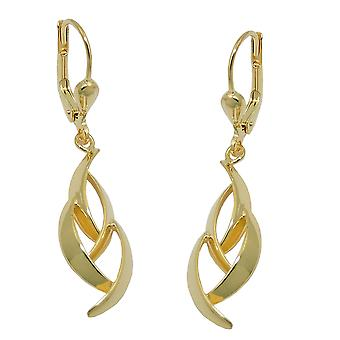 Brisur 37 x 8, 5mm earring shiny 8Kt GOLD