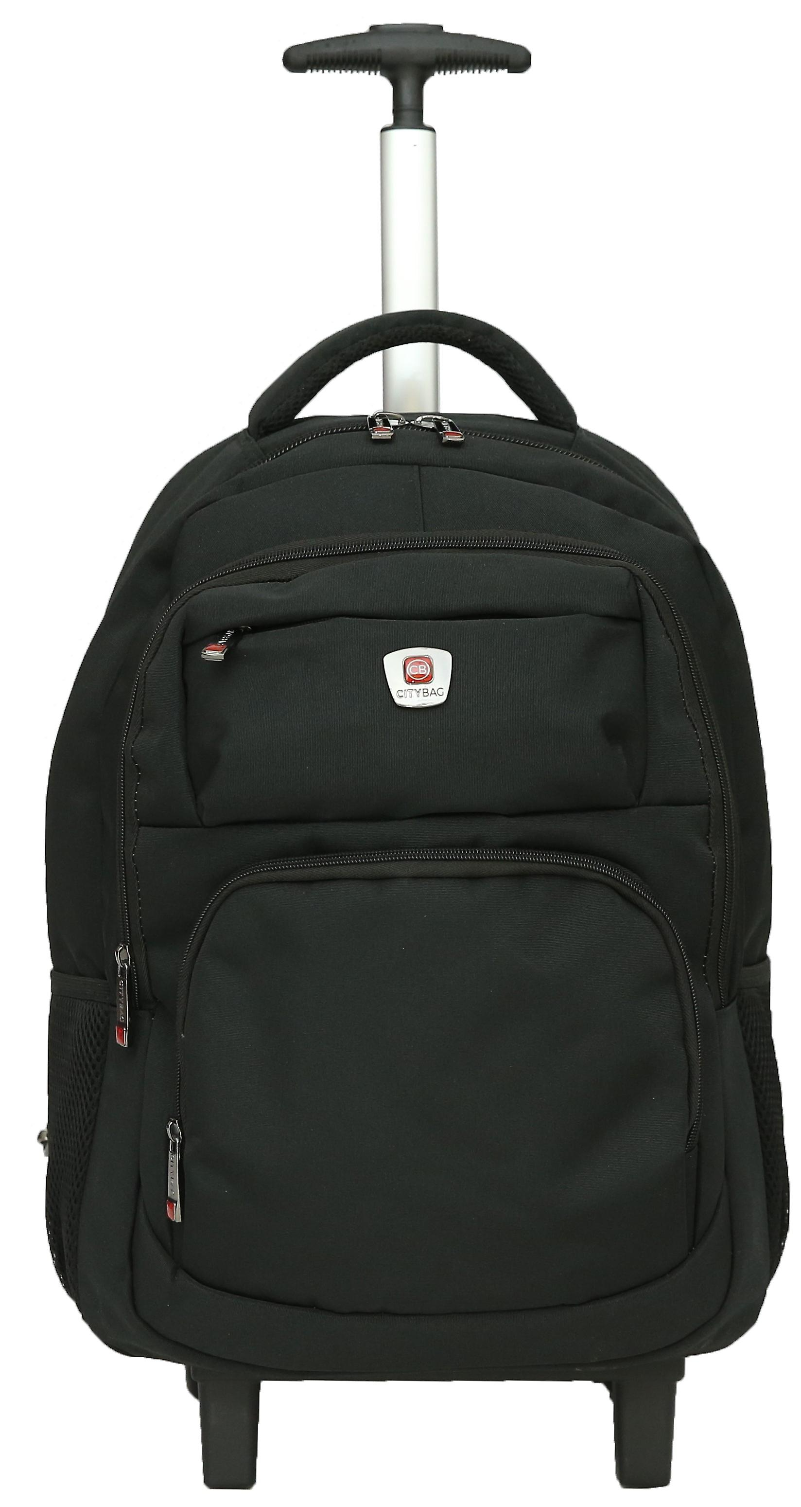 City Bag Hybrid Backpack On Wheels Laptop Trolley Wheeled Rolling 15 6 Computer Bag Hand Luggage Fruugo Us
