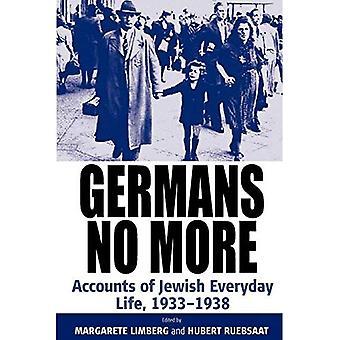 Duitsers niet meer: rekeningen van Joodse alledag, 1933-1938