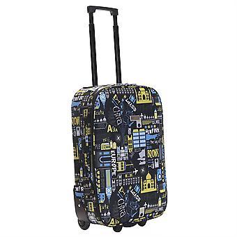 Slimbridge Algarve 55 cm valise Super léger, noir/bleu
