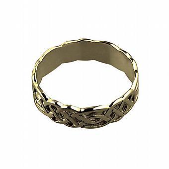 9ct Gold 6mm Celtic Wedding Ring Size Z