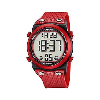 Cor plástica, do Calypso K5705/5-Unisex relógio de pulso,: vermelho