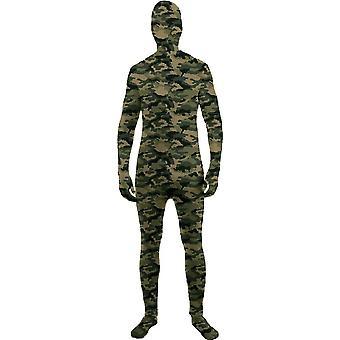 Camo hud tonåring kostym