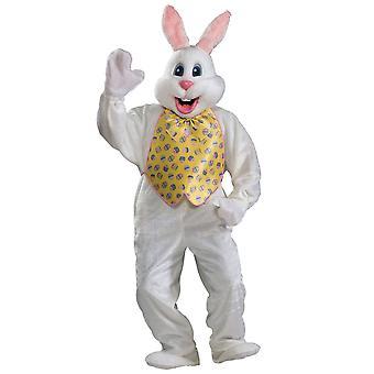 Pasen konijn Premium Deluxe pluche mascotte pak volwassen Mens kostuum STD