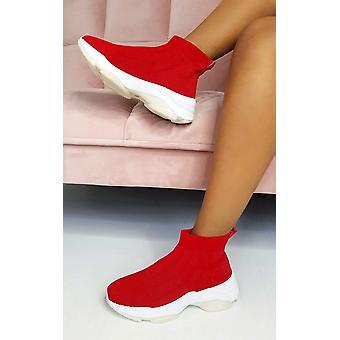 IKRUSH Womens Londra tirare il calzino Trainer