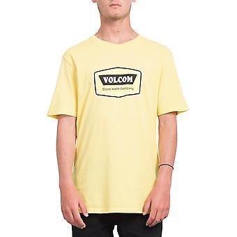 Volcom Cresticle قصيرة الأكمام تي شيرت باللون الأصفر