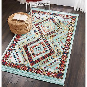 Navajo Nourison NAV02 Aqua rechthoek tapijten traditionele tapijten