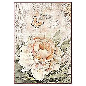 Stamperia Rice Paper A4 Vintage Rose & Laces