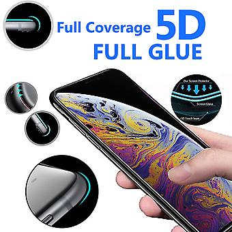 For Apple iPhone XS Max - 5D Curve Edge Full Coverage 9H Hardness Tempered Glass (3 Pack) by i-Tronixs